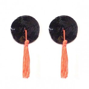 Bristols 6 Nippies Gold Blaze Tassel Nipple Pasties