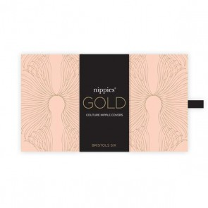 Bristols 6 Nippies Gold Gypsy Rose Tassel Heart Nipple Pasties