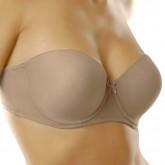 Va Bien Ultra-Lift Strapless Bra Nude Front