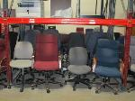 Lot: F7.General  - (42) CHAIRS, DESK, STANDS, FAX/PRINTER, TYPEWRITER