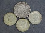 Lot: 2328 - 1883-S MORGAN DOLLAR & (3) KENNEDY HALVES