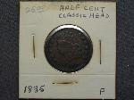 Lot: 2345 - 1835 LARGE HALF CENT