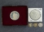 Lot: 2363 - PEACE DOLLAR, BARBER & MERUCRY DIMES