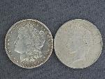 Lot: 2364 - 1880-O MROGAN & 1922 PEACE DOLLARS