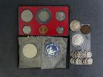 Lot: 2383 - KENNEDY HALF, MERCURY DIMES & FOREIGN COINS