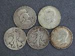 Lot: 2400 - 1941 & 1943 WALKING LIBERTY HALF DOLLARS