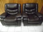 Lot: A5501 - Haining Gelin Furniture Leather Recliners