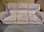 Lot: A5510 - Light Tan Suede Reclining Sofa