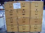 Lot: 323.LUB - Twelve Drawer Wooden File Cabinet