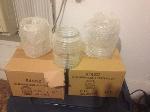 Lot: 14 - Glass Light Housings & Fixtures