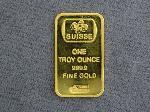 Lot: 2414 - SUISSE PAMP 1 TROY OZ 999.9 FINE GOLD BAR