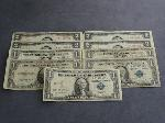 Lot: 2415 - (4) RED SEAL $2 NOTES & (5) 1935 $1 SILVER CERTS.
