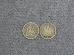 Lot: 2418 - 1854 & 1857 SEATED LIBERTY DIMES