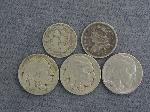 Lot: 2420 - 1827 CAPPED BUST DIME & 1869 3 CENT NICKEL