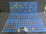 Lot: 2441 - DIME, NICKEL & PENNY BLUE BOOK COLLECTIONS
