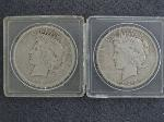 Lot: 2448 - 1922 & 1923 PEACE DOLLARS