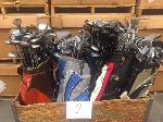 Lot: 2 - (1 Crate) Golf Clubs & Bags
