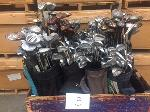 Lot: 3 - (1 Crate) Golf Clubs & Bags