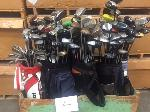 Lot: 4 - (1 Crate) Golf Clubs & Bags