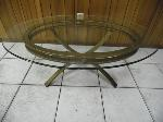 Lot: A5552 - Wrought Iron Glass Coffee Table