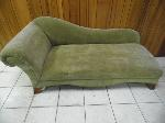 Lot: A5561 - Autumn Green Suede Chaise Lounge