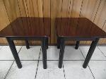 Lot: A5563 - Twin Cherry Wood End Table Set