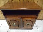 Lot: A5580 - Oak Wood Portable Cabinet