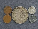 Lot: 2475 - 1921 MORGAN DOLLAR & 1942 MERCURY DIME