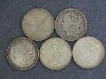 Lot: 2486 - (5) 1901-1921 MORGAN DOLLARS