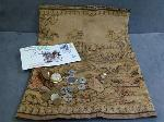 Lot: 2488 - 14K MAN'S WEDDING BAND, TAPESTRY & TOKENS