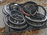 Lot: 1713 - BICYCLE FRAMES, WHEELS & TIRES