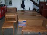 Lot: 01 - Desks, Tables, File Cabinet & Bookshelf