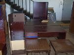 Lot: 03 - (3) Desks, (2) Tables & Bookshelf