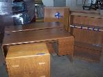 Lot: 04 - (2) Desks, (3) Bookshelves & File Cabinet