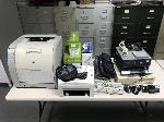 Lot: 2 - (3) Dell PCs, HP Color Printer