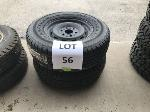 Lot: 56 - (2) CHEVROLET TAHOE TIRE ASSEMBLIES