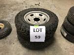 Lot: 59 - (2) FORD F250 4X4 TIRE ASSEMBLIES