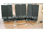 Lot: 19 - (3 pairs) Logitech Speakers