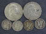 Lot: 2506 - FRANKLIN HALVES & MERCURY DIMES