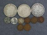 Lot: 2510 - 1889 & 1890-O MORGAN DOLLARS & 1943 MERCURY DIME