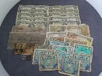 Lot: 2521 - 1864 $10 CONFEDERATE NOTE & (9) BLUE SEAL $1 SILVER CERTIFICATES