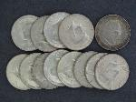 Lot: 2525 - 1893 COLUMBIAN HALF & (12) 1964 KENNEDY HALF DOLLARS
