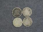 Lot: 2527 - (4) 1841-1891 SEATED LIBERTY DIMES