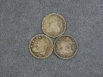 Lot: 2529 - (3) 1831 - 1835 CAPPED BUST DIMES