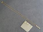 Lot: 1 - 14K PAST, PRESENT, FUTURE NECKLACE & EARRINGS