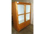 Lot: 02-18632 - Wooden Cabinet w/ Glass Doors