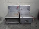 Lot: 10.MN - 2 Stainless Table Tops with Backsplash