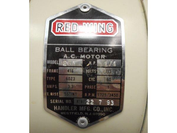 Lso auctions lot 1233 red wing ball bearing ac motor for Red wing ball bearing ac motor