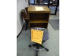 Lot: 77.UVALDE - DICTIONARY STAND & CHAIR