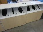 Lot: 11 - (2) Rolling Trashcan/Recycle Cans